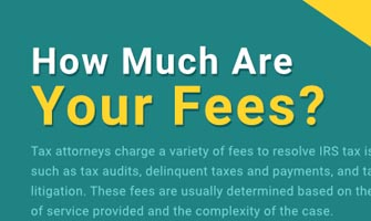 Legal Blog: Tax fess infographic