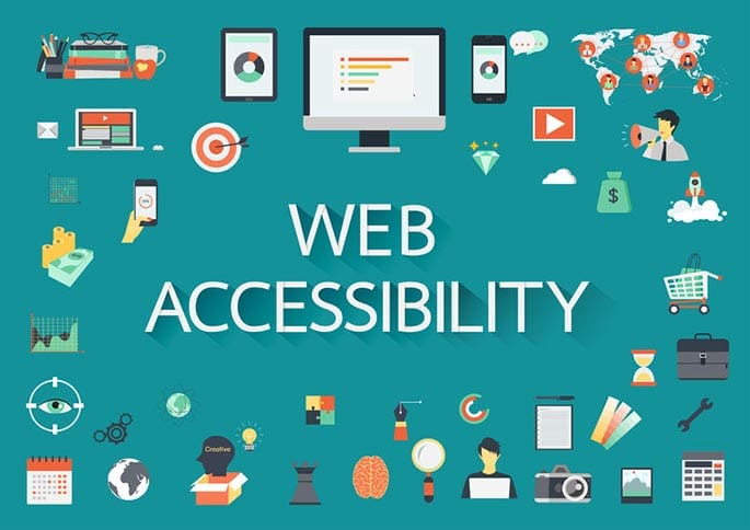 a graphic of website accessibility icons