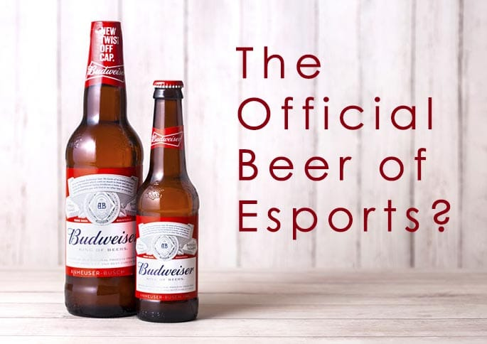 picture to accompany article about Budweiser possibly becoming the official beer of esports trademark